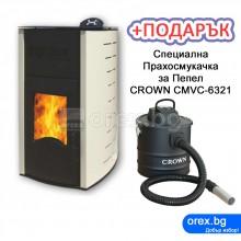 Пелетна Камина BURNiT Comfort PM 13kW, с водна риза 11kW - Слонова кост (гланц) - ЛИЗИНГ с 0% лихва