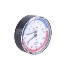 Tермоманометър с клапан – аксиален – Ø80мм, 0÷120°C; 0÷6bar  – CEWAL