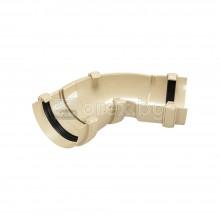 ПВЦ(PVC) Универсален ъгъл 60°-160° за улук, Бежов - DEVOREX Classic
