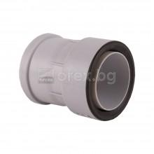 Преходна муфа от чугунена към ПВЦ(PVC) тръба Ø110 - HL 9/1