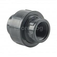ПВЦ(PVC) Холендър с вътрешна резба Ø20-1/2'', PN16