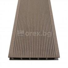 WPC дъска за декинг - 140х4000мм - кафяв - DEVOREX DECKING