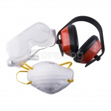 Комплект: маска, очила и антифони