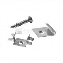 WPC комплект крепежи - начална скоба, свързваща скоба, винт -  10м2 - DEVOREX DECKING