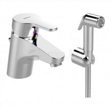 Смесител стоящ за умивалник с хигиеничен душ и изпразнител, VIDIMA SevaNext - B0466AA