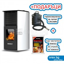 Пелетна Камина BURNiT Advant 4G 13kW, с водна риза 11kW - Бял лебед
