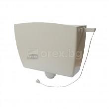 Тоалетно казанче 3/8'' - 6л - високо присъединяване - САНИТАПЛАСТ