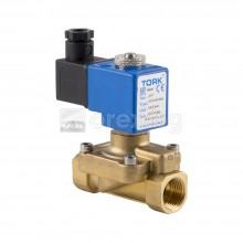 Електромагнитен вентил за вода 1/2'' с бобина - нормално затворен, PN16, 220V