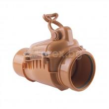 ПВЦ(PVC) Възвратна клапа Ø110, за канализация, против миризми и гризачи