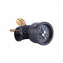 Капилярен термоманометър с клапан, 0÷120°C; 0÷6bar – CEWAL