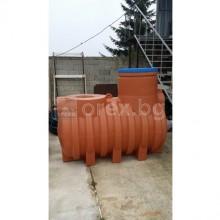 ПЕВП(PEHD) Резервоар за вода 1500л, подземен, подсилен, отвор Ø640мм, без капак