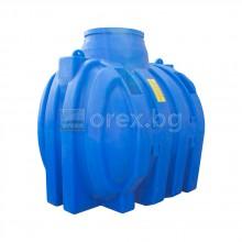 ПЕВП(PEHD) Резервоар за вода 3000л, подземен, подсилен, отвор Ø640мм, без капак