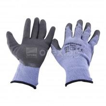 Ръкавици, сиво трико/сив латекс