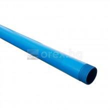 ПВЦ(PVC) Тръба за сондаж R8 Ø114х5.4мм - 5м - полупрорязана, с прорез 1мм