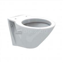 Стенна тоалетна чиния с хоризонтално оттичане без тоалетна седалка, FAYANS HappyBath - 8.2009.5.000.000.1