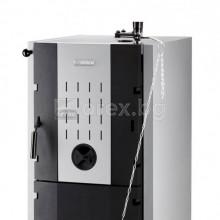 Чугунен Котел BOSCH SOLID 3000H, 4 секции, 20kW - твърдо гориво (кокс, дърва, въглища), триходов, терморегулатор, SFU 20 HNC
