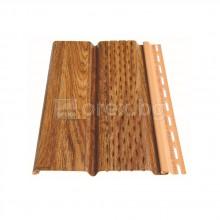 ПВЦ(PVC) Панел перфориран за стреха 3м, Златен дъб - DEVOREX Soffit