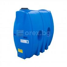 ПЕВП(PEHD) Резервоар за вода 1000л, овален, вертикален, отвор Ø200мм