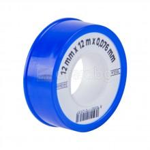 Teфлонова лента малка - 12м/12мм/0.076мм - синя - FACOT