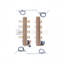Комплект колектори 1'' за подово с дебитомери, G3/4'' - 3 пътен - HERZ 1853203