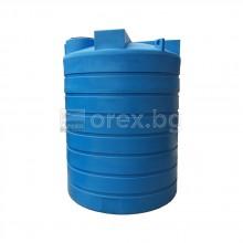 ПЕВП(PEHD) Резервоар за вода 6500л, цилиндричен, вертикален, отвор Ø400мм