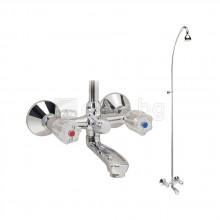 Смесител стенен за вана/душ със стационарен душ, VIDIMA Rositsa - B1441AA