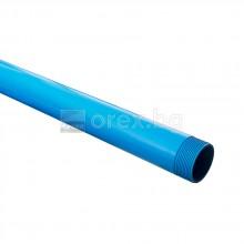 ПВЦ(PVC) Тръба за сондаж R8 Ø114х5.4мм - 5м - плътна