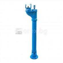 Противопожарен Хидрант DN80, PN10, H=1250мм, Подземен, к-кт коляно с пета и охранително гърне