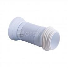 Гофрирана връзка за WC разтегателна 240-500мм. метална нишка