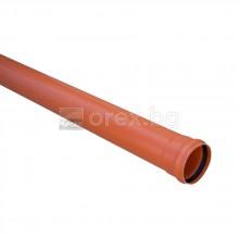 ПВЦ(PVC) Тръба Ø160х3.5мм, SN4, 5м, с карбон, муфа и уплътнение - Solid Pipe