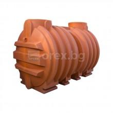 ПЕВП(PEHD) Резервоар за вода 5000л, подземен, подсилен, отвор Ø640мм, без пакак