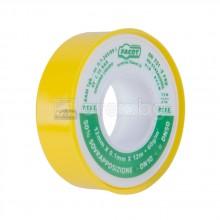 Тефлонова лента за газ - 12м/12мм/0.1мм - жълта - FACOT