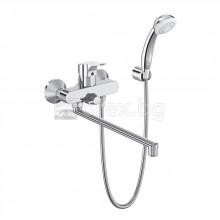 Смесител стенен за вана/душ с дълъг чучур с аксесоари, VIDIMA SevaNext - B1926AA