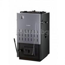 Стоманен Котел BOSCH SOLID 2000B 16kW - твърдо гориво (дърва, въглища), триходов, регулатор на тяга, SFU 16 HNS