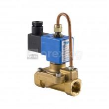 Електромагнитен вентил за вода 1/2'' с бобина - нормално отворен, PN16, 220V
