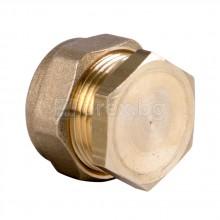 Месингова компресионна тапа за медна тръба Ø22