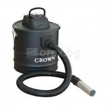 Пархосмукачка за пепел 900W, 18л, метален смукател – CROWN CMVC-6321