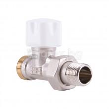Термостатен вентил - прав - за адаптер - 24х19 х G1/2M - LUXOR