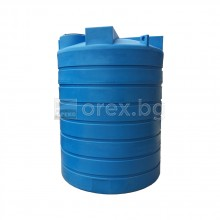 ПЕВП(PEHD) Резервоар за вода 5000л, цилиндричен, вертикален, отвор Ø400мм